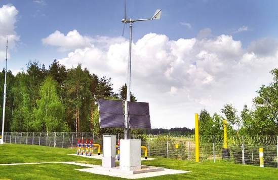 CCPS powered by solar panel and wind turbines