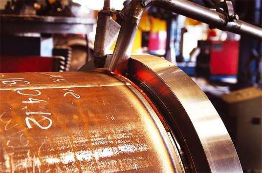 Automatic flux welding