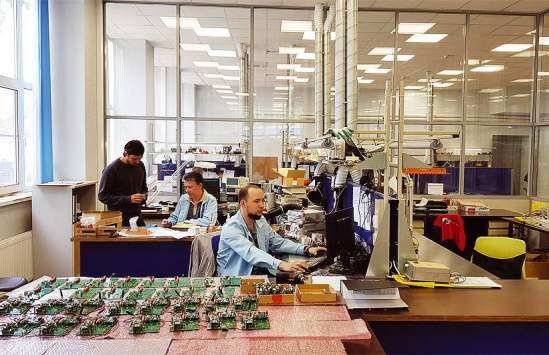 Production of CMS-PST in the electronic production center